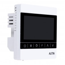220V 50Hz Electric Underfloor Heating Thermostat LCD Touch Screen Temperature Controller W/ External Sensor Cable