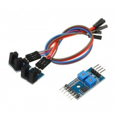 2 Channel Speed Sensor Module Counting Motor Speed Controller Measuring Slot Type Optocoupler Module