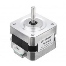 HANPOSE 17HS3430 34mm Nema 17 Stepper Motor 42 Motor 42BYGH 0.4A 28N.cm 4-lead For CNC 3D printer