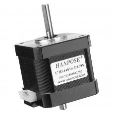 HANPOSE 17HS4401S-D150S Double Shaft 48mm Nema 17 Stepper Motor 42 Motor 42BYGH 1.6A 45N.cm 4-lead for CNC Laser 3D Printer