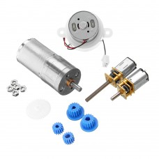 4 Kinds Gear Motor Pack Kit with Gears Material for DIY Smart Assembled Car