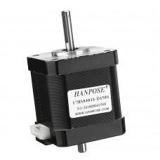 HANPOSE 17HS8401S-D150S Double Shaft 48mm Nema 17 Stepper Motor 42 Motor 42BYGH 1.8A 52N.cm 4-lead for 3D Printer CNC Laser
