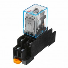 10Pcs AC110V Coil Power Relay LY2NJ JQX-13F DPDT 8 Pin PTF08A With Socket Base