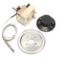 DANIU Thermostat AC 250V 16A 50-300 Degrees Temperature Controller No NC for Electric Oven