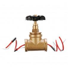 Vintage Steampunk 3/4 Inch Stop Valve Light Switch With Wire Pass Thru Black Iron