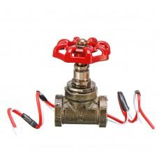 Vintage Steampunk 1/2 Inch Stop Valve Light Switch With Wire Pass Thru Red Iron
